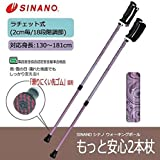 転倒を防ぎ安全歩行!!2本の杖で身体を支える。 SINANO シナノ ウォーキングポール もっと安心2本杖 ヴィクトリアン [簡易パッケージ品]
