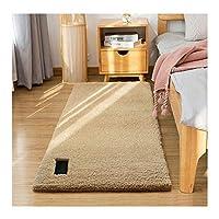 シャギーラグ, リビングルームには、長方形サイズ3.5センチメートル高密度パイルラグソフトと高弾性綿毛が介護ベッドルームベッドサイドのソファに簡単に洗浄することができ敷物,ベージュ,80*120cm