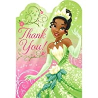 Princess and the Frog 'Sparkle' Thank-You Cards w/ Envelopes (8ct) [並行輸入品]