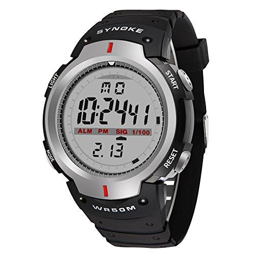 [해외]남성 시계 방수 디지털 디스플레이 led 라이트 알람 스톱워치 기능 12|24 시간 전환 다기능 스포츠 시계/Men`s Watch Waterproof Digital Display led Lighted Alarm Stopwatch Function 12|24 Time Switching Multifunction Sports Wrist Watch