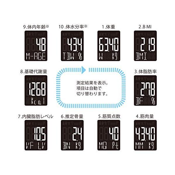 タニタ 体組成計 スマホ 50g 日本製 ホワ...の紹介画像2