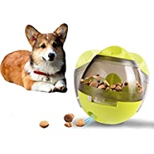 Gounia Interactive Dog & Cats IQ Treat Ball Food Dispenser Ball Toy Playing Training Pet Toy Ball Snacks Dispensing Feeder for Kittens and puppies