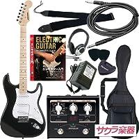 SELDER セルダー エレキギター ストラトキャスタータイプ サクラ楽器オリジナル ST-16M/BK VOX マルチエフェクター入門セット
