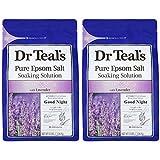 【Amazon.co.jp限定】Dr Teal's(ティールズ) フレグランスエプソムソルト ラベンダー 入浴剤 1360g ×2個セット 1360g×2個