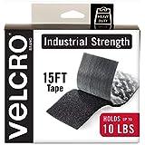 "VELCRO Brand - Industrial Strength Fasteners - Heavy Duty Stick On, 2"" x 15 ft. Roll, Black"