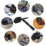 CHINLIN 409 - Multi-Functional Mini Folding Spade Shovel with Bag (Shovel, Hoe, Knife, Pimple, Bottle Opener, Saw for Garden, Camping, Traveling, Hiking, Emergency, Mountaineering)