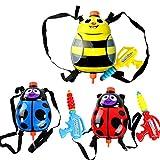 Nice Days(ナイス ディズ) 夏子どもおもちゃ  バックパック水鉄砲  ウォーターガン リュックサック式 かわいい甲虫 1個入り