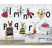 Hanhantang 葉塗装壁画リビングルームの寝室の写真の背景の壁の装飾壁紙-350X250Cm