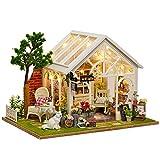 DIYドールハウス おもちゃの家ミニチュア家具DIYの木の人形の家セット1:24スケールの創造的な部屋のアイデアバレンタインデーの贈り物(太陽の光の花部屋) 知育玩具 新年 ギフト 誕生日 (Color : Multi-colored, Size : 22*19*20.2cm)