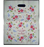 KANARIA ラッピング バッグ 袋 50枚入 / 包装 プレゼント 贈り物 品物 ギフトイベント / 22×32㎝ / 花 柄 (バラ大)