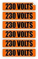 230ボルト電圧&コンジットマーカー|ステッカー|デカール|ラベル電気6x