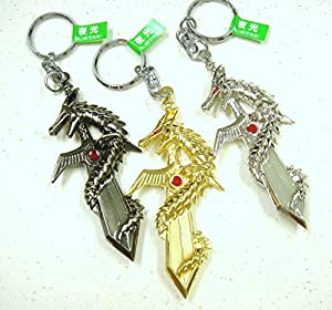 魔界のドラゴン夜光剣キーホルダー 3色セット(ゴールド・シルバー・ブラック)