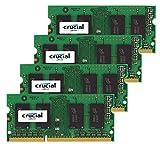 Crucial 32ギガバイト (4x 8GB)アップルメモリ後期2015 iMacの27のアップグレード」32GB DDR3 1867MHz PC3-14900 SODIMM 2Rx8 CL13 1.35V RAM