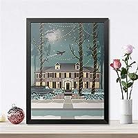 アートプリントハウスポスターフィルムギフトキャンバス絵画壁絵キッズホームアート装飾-40×50センチ×1個フレームなし