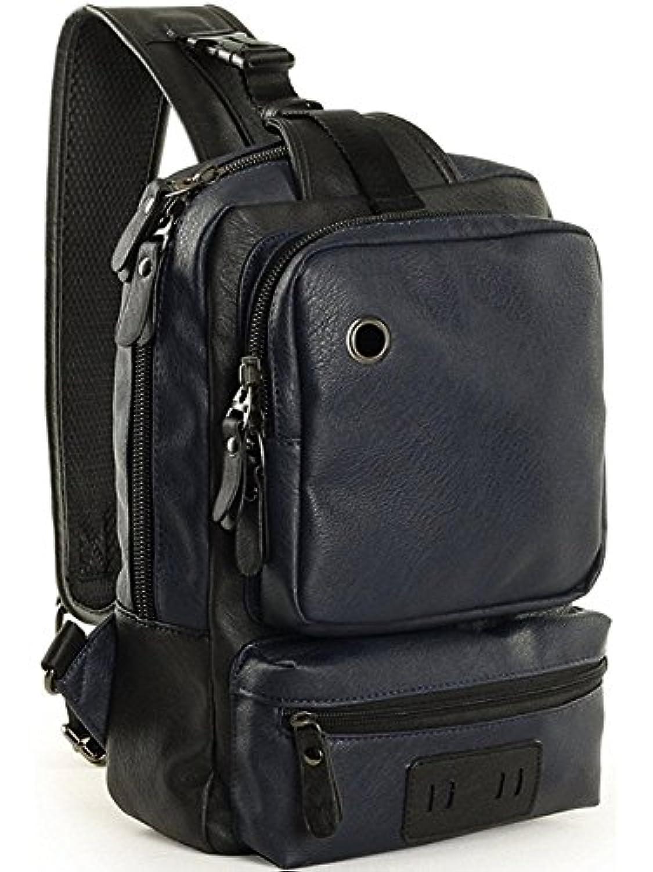 OneMtoss ボディバッグ メンズ 大容量 レザー ワン ショルダー 人気 斜めがけ バッグ 防水 a4 通学 登山 旅行 バッグ全3色
