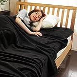 mofua モフア プレミアム マイクロファイバー 毛布 & 敷パッド セット 《 シングル 》 [ ブラック ] 品質保証1年間