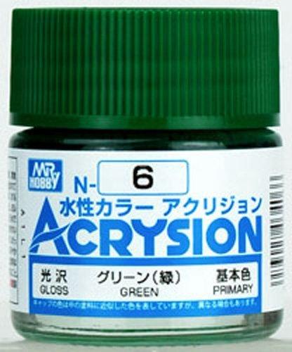 GSIクレオス 新水性カラー アクリジョン グリーン 緑  N6