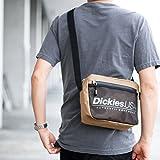 Dickies (ディッキーズ) SPLOGO USA ショルダーバッグ dwearsステッカー入り サコッシュ メッセンジャーバッグ 旅行 バッグ ミニ ショルダー (フリーサイズ, ベージュ)