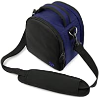 VanGoddy Laurel Carrying Bag for Nikon Coolpix p900、p610、l840、l340、p990、l830、p600 , p530 , p520 , l820、p510、p100、p500、p90、p80 slr-likeデジタルカメラ(ブルー)