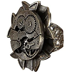 Steampunk Antique Watch Gears Ring by Elope [並行輸入品]