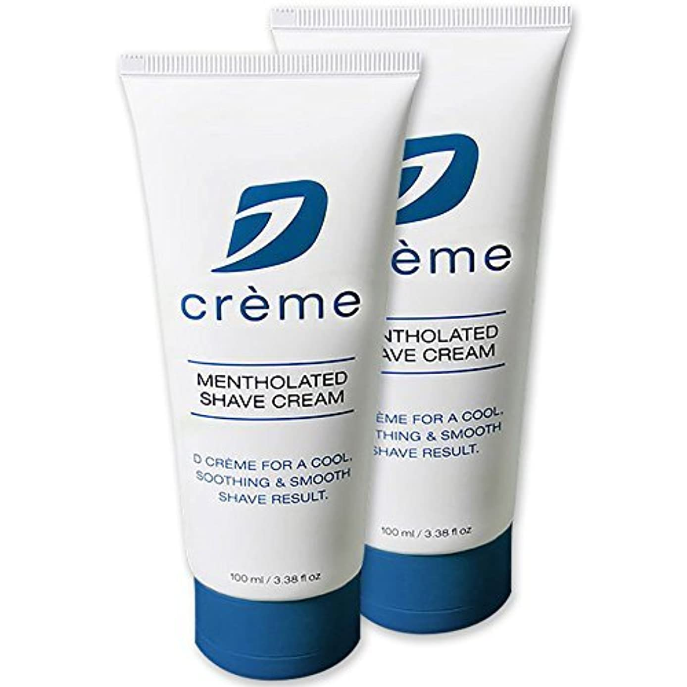 信じられない刈るメンバーDorco D Cr?me Mentholated Shaving Cream - For a Smooth and Soothing Shave (2 Pack) [並行輸入品]