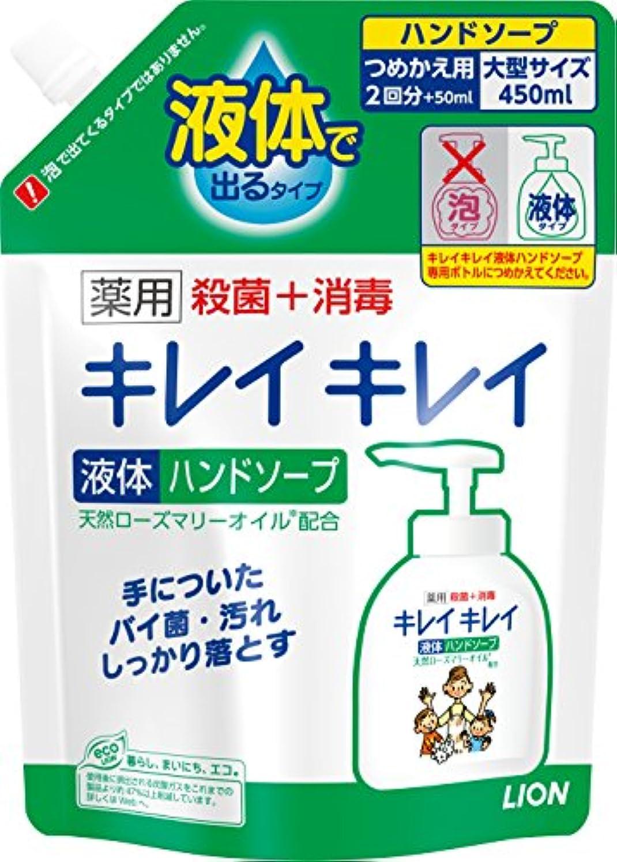 名誉誰も分解するキレイキレイ 薬用 液体ハンドソープ 詰め替え 450ml(医薬部外品)