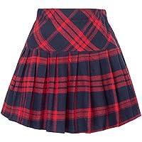 Belle Poque Women's High Waist A Line Pleated Mini Skirt BP488