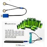 OLIGHT オーライト UC 充電器 マグネット式USB充電ケーブル 【充電対応電池:18650/17670/16340/RCR123/14500/単3/単4/ AAA / AA / AAAA C10340,10350,10440,10500,12340,12500,12650,14350,14430など】 Universal Rechargeable Battery Charger (ブラック) (Olight UC充電器 1本)