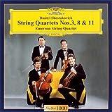 ショスタコーヴィチ:弦楽四重奏曲第3番&第8番&第11番