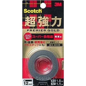 3Mスコッチ超強力両面テーププレミアゴールドスーパー多用途粗面KPR-12