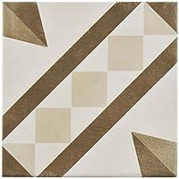 """SomerTile fcvatbvd Tabaco Vendome Peintre磁器床と壁タイル、5.875"""" X 5.875"""""""