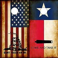 Speed DemonホットロッドShop Cornholeボードラップ~コンボTexas Flag Come and Take It &素朴なAmerican Dont Tread On Me DTOM Corn穴・ボードラミネートデカールWraps (Set of 2) CHB