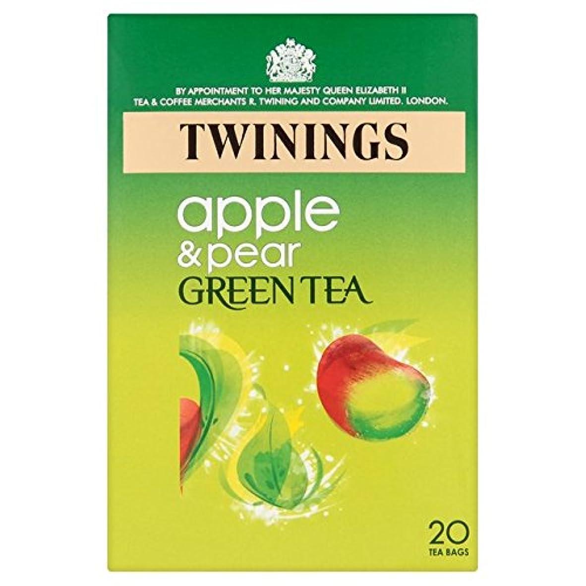 混乱フルーツ誰でも1パックトワイニングリンゴ&梨緑茶20 (x 2) - Twinings Apple & Pear Green Tea 20 per pack (Pack of 2) [並行輸入品]