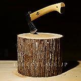 【COTTAGE (コテージ)】 薪割り台 キャンプ用 高さ20cm / 樹皮付き
