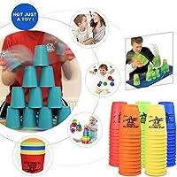 Ama (TM) 12pc/セットカップスタッキングスポーツSpeed Stacks CompetitorゲームマットProタイマーPlay Toy 4*2.5*4.5cm