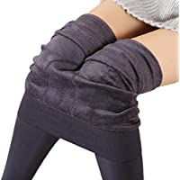 Lookatool Women Winter Thick Warm Fleece Lined Thermal Stretchy Leggings Pants