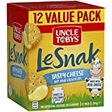 UNCLE TOBYS Le Snak Tasty Cheese Dip & Crackers Value Pack, 1 Box of 12, 264g
