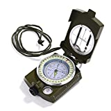 GWHOLE 方位磁針 高精度コンパス オイルコンパス 軍用コンパス ミリタリーコンパス 折り畳み式 多機能/方位磁針/防水/夜光 【1年安心保証】