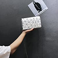 RBBB チックチェーン斜めのバッグ女新金韓国版潮夏ミニ小方包百掛けカジュアルシングル,白