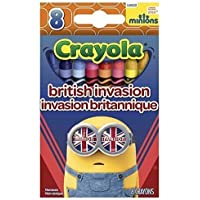 CrayloaミニオンズBritish Invasion / Despicable Meクレヨン( 8パック)
