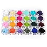 24色セット 発色いい ネイルベルベットパウダー ネイルデコ レジン用 ジェル用顔料 パール顔料24色セット カラーパウダー