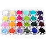 ユニークモール(UniqueMall)24色セット 発色いい ネイルベルベットパウダー ネイルデコ レジン用 ジェル用顔料 パール顔料24色セット アクリルパウダー セット 母の日 プレゼント