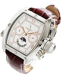 COGU コグ 腕時計 メンズ オートマティック ホワイトピンクゴールド/ブラウンレザー C62-RGBR