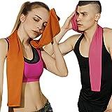 BeauDO(ビュード) スポーツタオル クールタオル 吸水タオル 速乾タオル UVカット 紫外線カット 熱中症対策