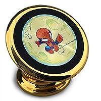 かわいい小さなスパイダーマン 磁気電話カーホルダー、360°調整可能な携帯電話クレードル、スタイリッシュで耐久性