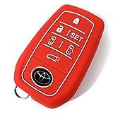 アルファード 30系 AYH3# GGH3# AGH3# スマートキー カバー キーカバー トヨタ 専用設計 シリコン スマピタ レッド