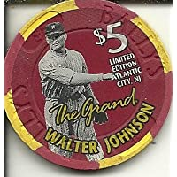$ 5 The Grand WalterジョンソンカジノチップAtlantic City Obsolete
