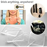 Etbotu Sticky Gel Pads,Portable Non-slip Mats,Transparent Quite Soft Silicone,Anti-slip for Phone Floor Mat & Anything,Stick Anywhere