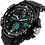 腕時計 メンズ ブランド スポーツ デジアナ表示 アウトドア ビッグフェース クロノグラフ おしゃれ 人気 [並行輸入品]