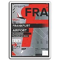 2×10センチメートルFRAフランクフルト空港ビニールステッカー - ドイツ旅行ステッカー#17388(10センチメートルトール)